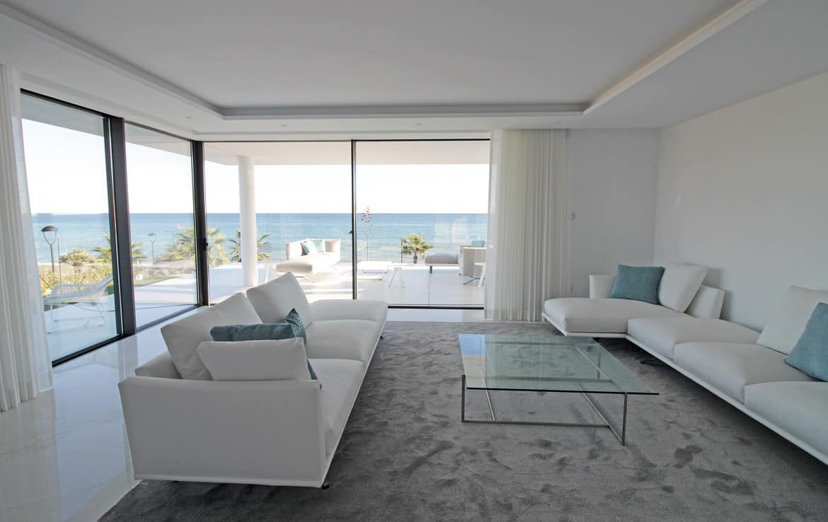 New Golden Mile Apartment s with livingroom with sea view - Estepona Marbella