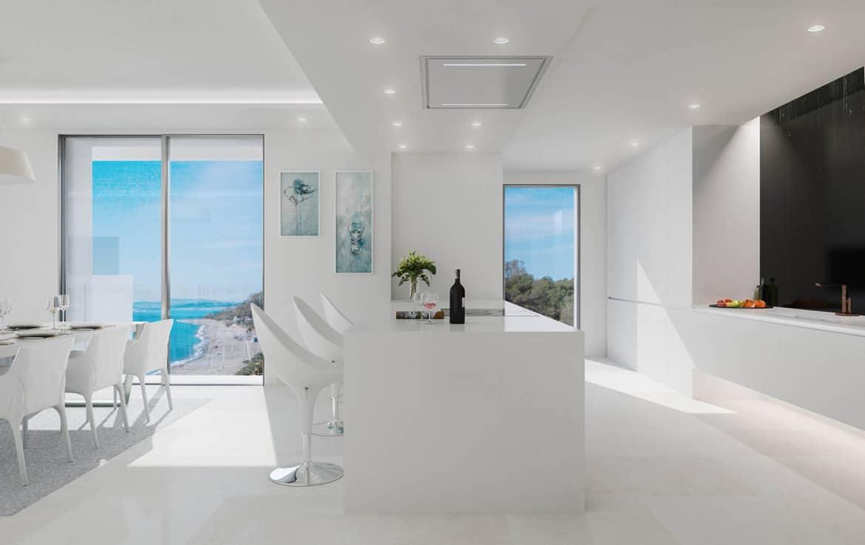 Sea front apartments - kitchen