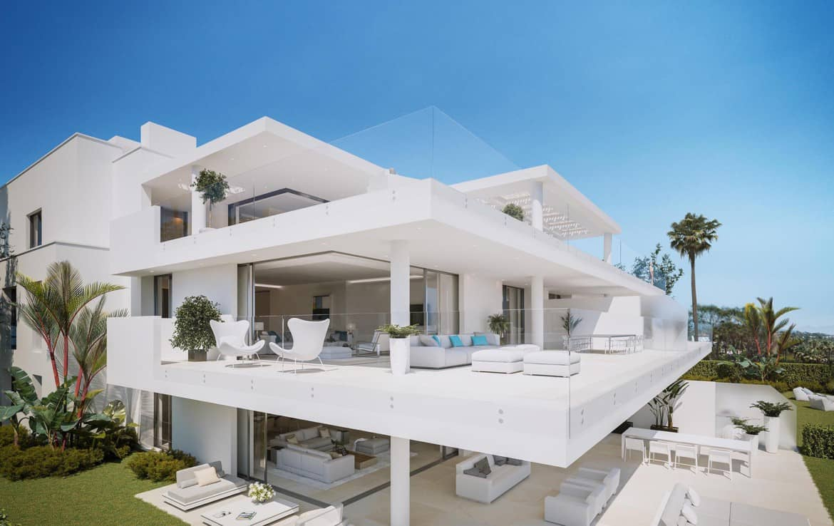 Sea front high end apartments - many terraces with a view - New Golden Mile