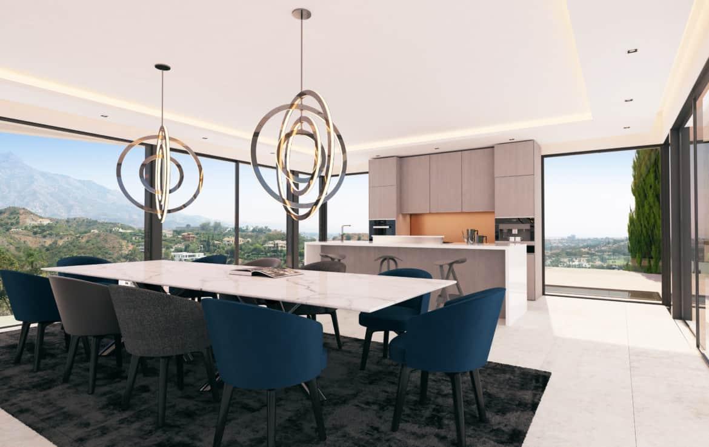 Villa te koop in prestigieuze wijk La Quinta bij Marbella, open keuken, veel licht en ruimte