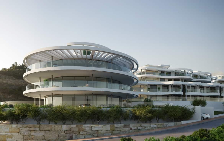 Benahavis, Marbella, Costa del Sol, 49 residenties met schitterende architectuur en uniek zeezicht